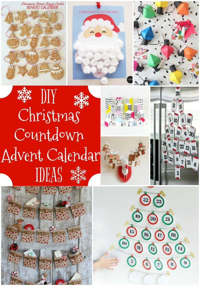 DIY Christmas Countdown Advent Calendar Ideas by Mariah Leeson