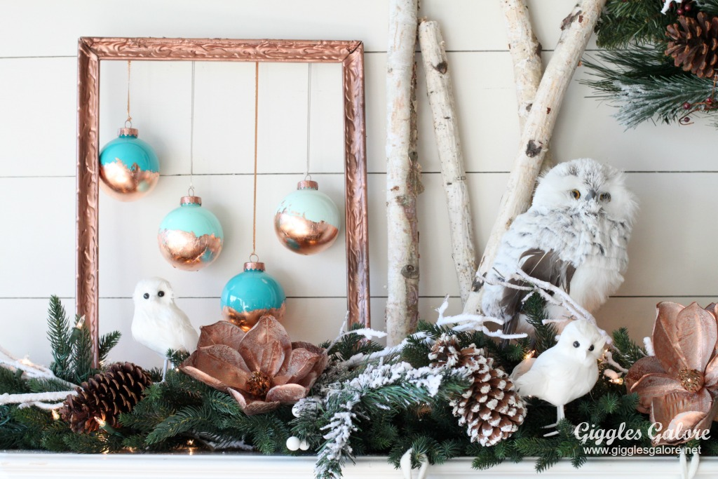 diy painted copper leaf christmas ornaments and winter