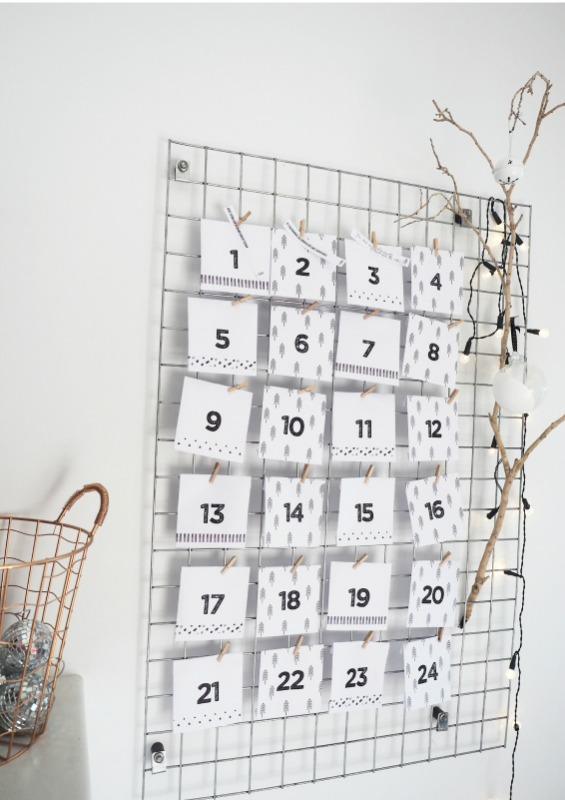 DIY Scandinavian Advent Calendar, DIY Christmas Countdown Advent Calendar Ideas