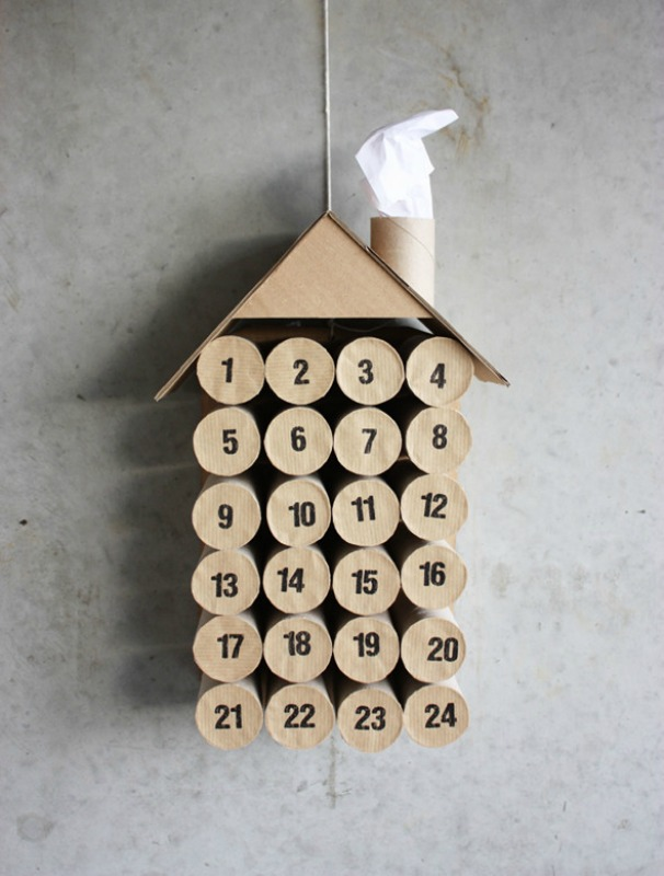 DIY Toilet Paper Roll Calendar, DIY Christmas Countdown Advent Calendar Ideas