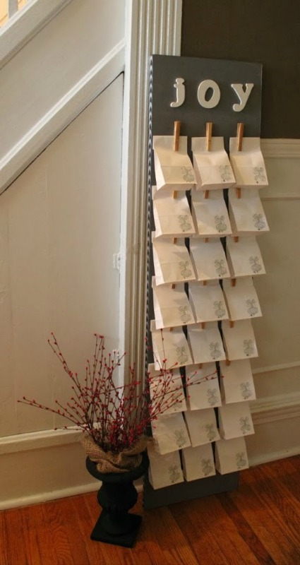 Easy DIY Paper Bag Advent Calendar,DIY Christmas Countdown Advent Calendar Ideas