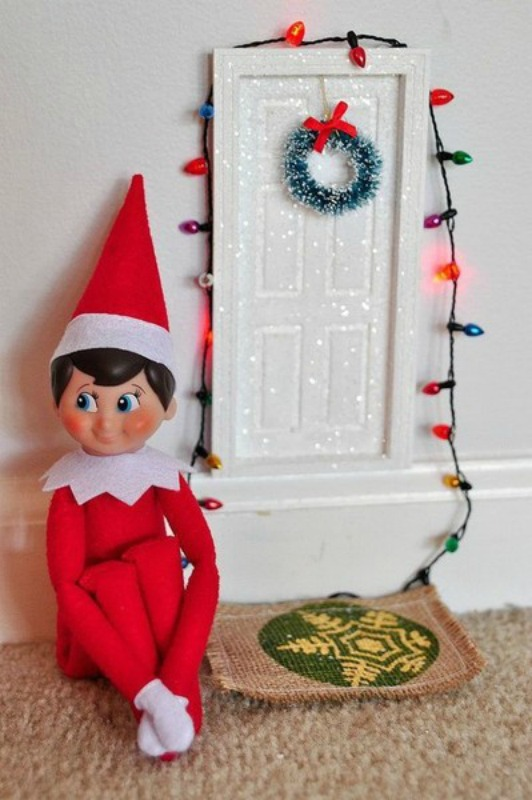 Elf Door, Elf on the Shelf Ideas via Giggles Galore