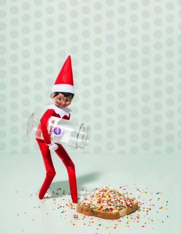 Fairy Bread, Elf on the Shelf Ideas via Giggles Galore