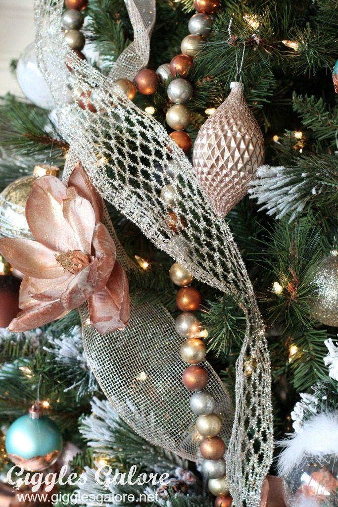 Glam Metallic Farmhouse Christmas Tree Giggles Galore