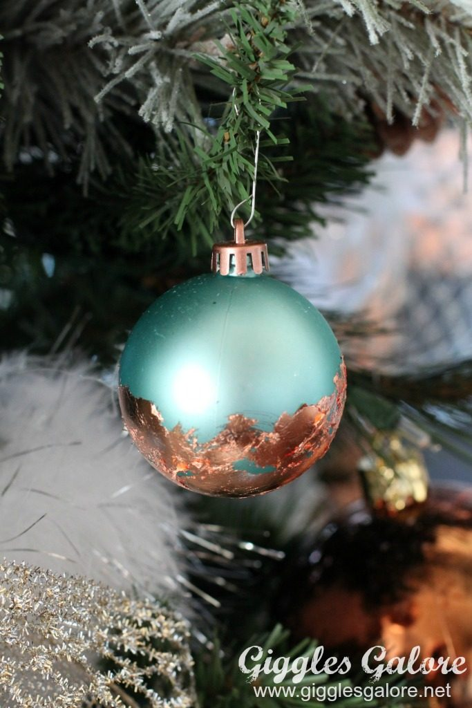 farmhouse-dream-tree_aqua-copper-gold-leaf-ornaments