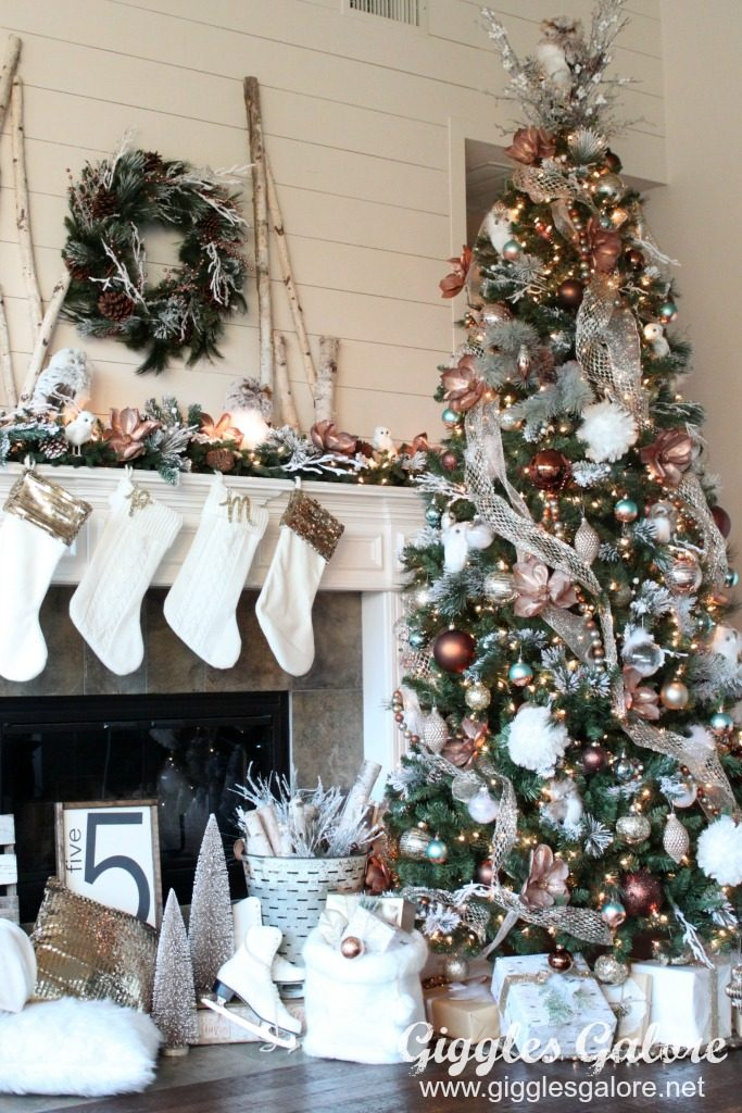 glam metallic farmhouse christmas tree_michaels dream tree challenge - Farmhouse Christmas Decorating Ideas