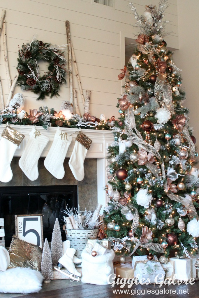 glam-metallic-farmhouse-christmas-tree_michaels-dream-tree-challenge - Glam Metallic Farmhouse Christmas Tree - Giggles Galore
