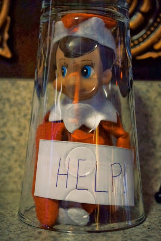 Help, Elf on the Shelf Ideas via Giggles Galore