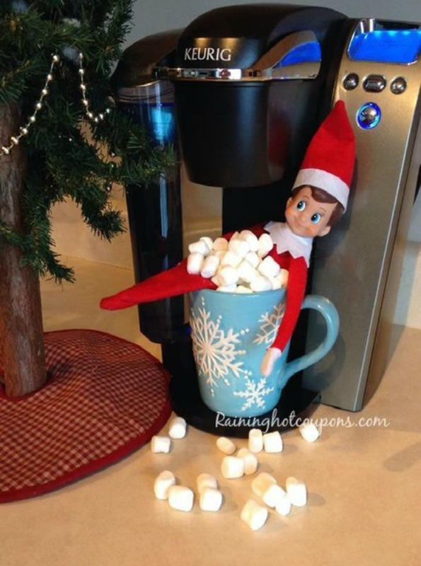 Hot Chocolate, Elf on the Shelf Ideas via Giggles Galore