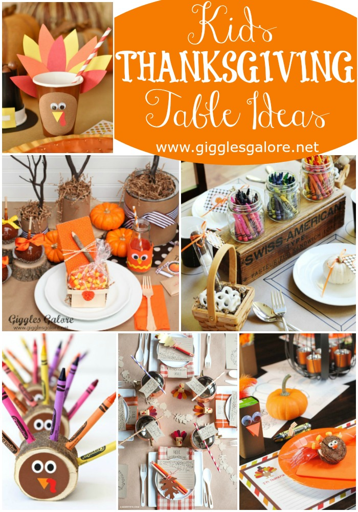 Kids Thanksgiving Table Ideas Giggles Galore