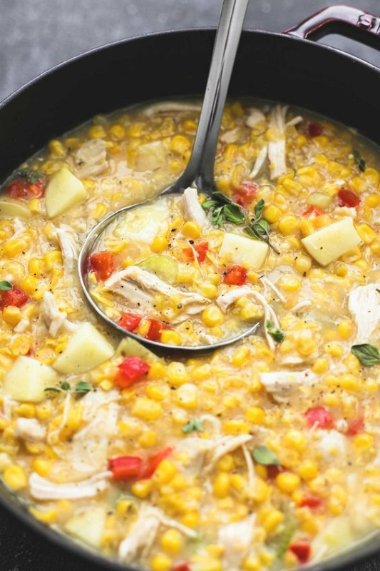 Leftover Turkey Corn Chowder, Thanksgiving Leftovers Recipes via Giggles Galore