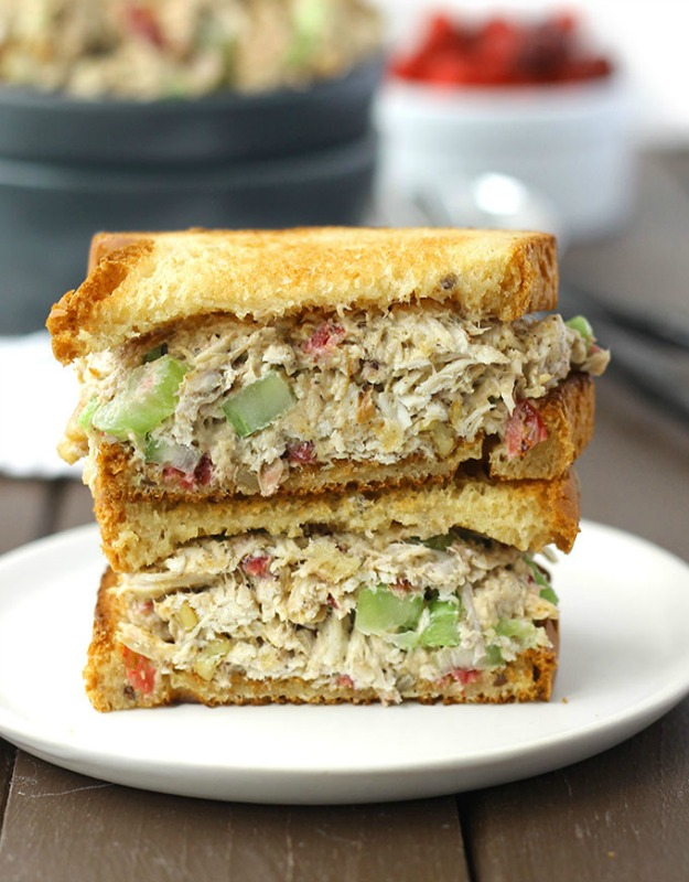 Leftover Turkey and Cranberry Sauce Salad, Thanksgiving Leftovers Recipes via Giggles Galore