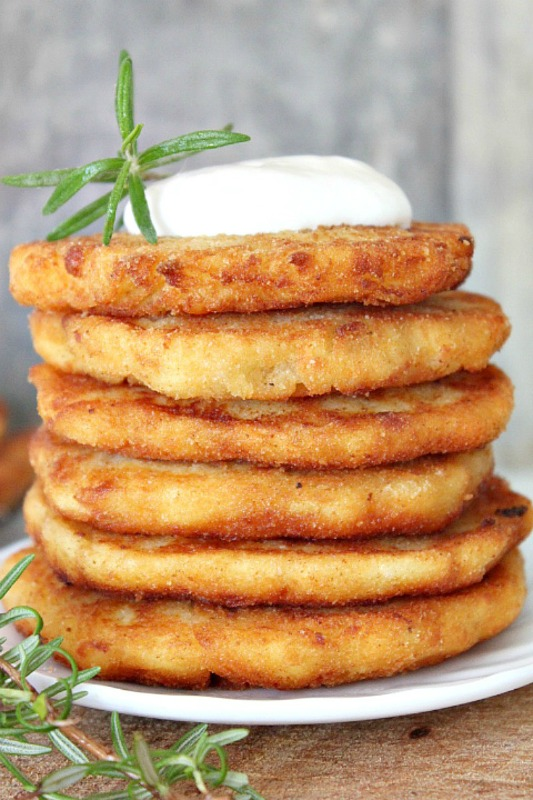 Leftover Mashed Potato Pancake Recipe, Thanksgiving Leftovers Recipes via Giggles Galore