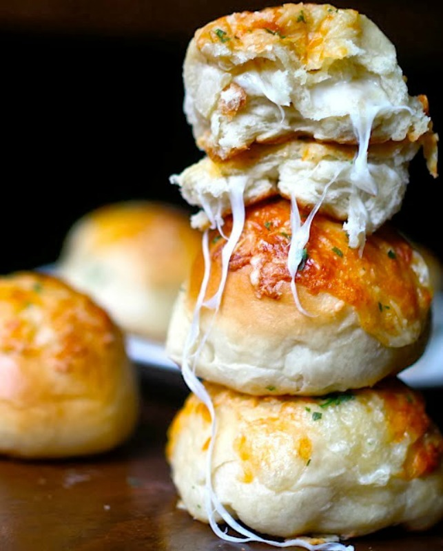 Peeta's Stuffed Cheese Buns, Thanksgiving Side Dishes your Guests will LOVE via Giggles Galore