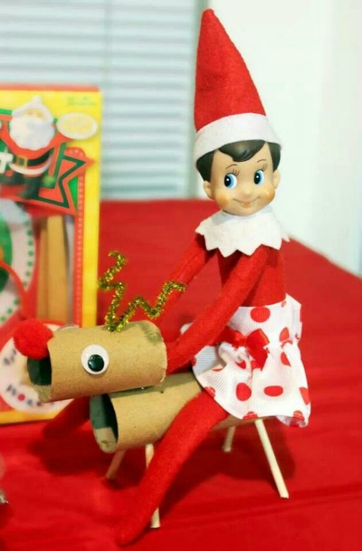 Ride a Reindeer, Elf on the Shelf Ideas via Giggles Galore