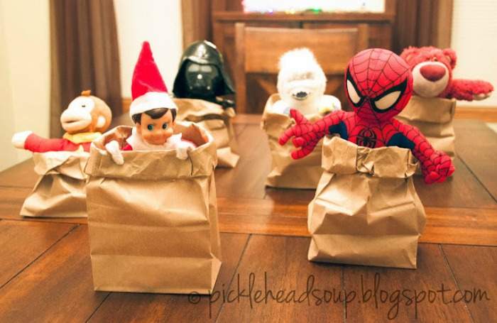 Sack Race, Elf on the Shelf Ideas via Giggles Galore