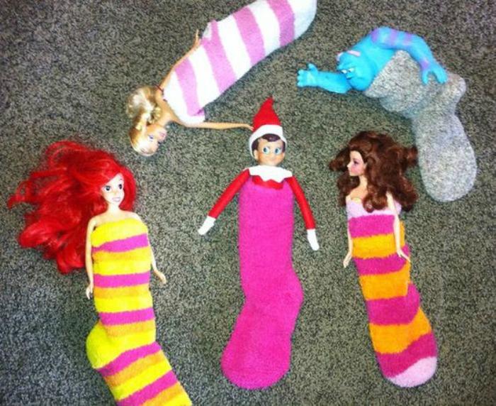 Sleepover, Elf on the Shelf Ideas via Giggles Galore