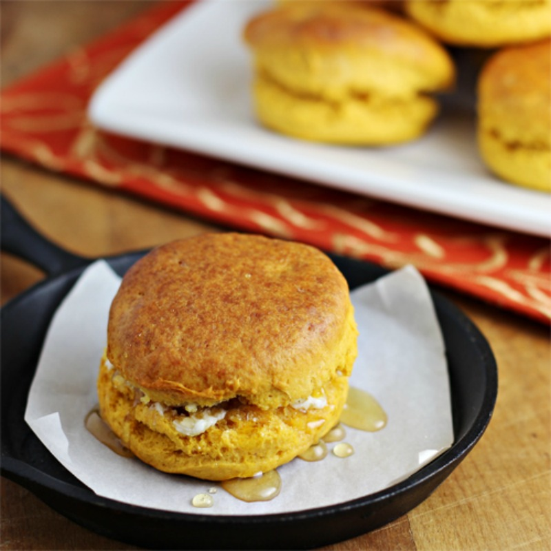 Sweet Potato Biscuits, Thanksgiving Leftovers Recipes via Giggles Galore