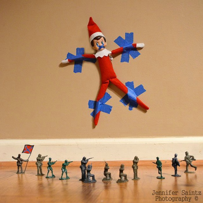 Taken Hostage, Elf on the Shelf Ideas via Giggles Galore