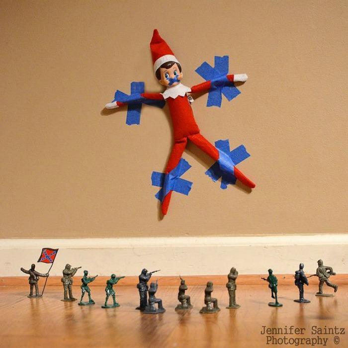 Taken Hostage, Elf on the Shelf Ideas via Giggles Galore
