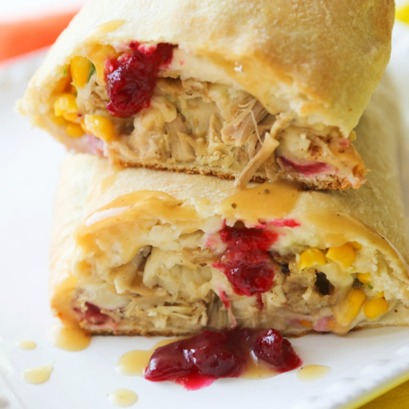 Thanksgiving Leftovers Stromboli, Thanksgiving Leftovers Recipes via Giggles Galore