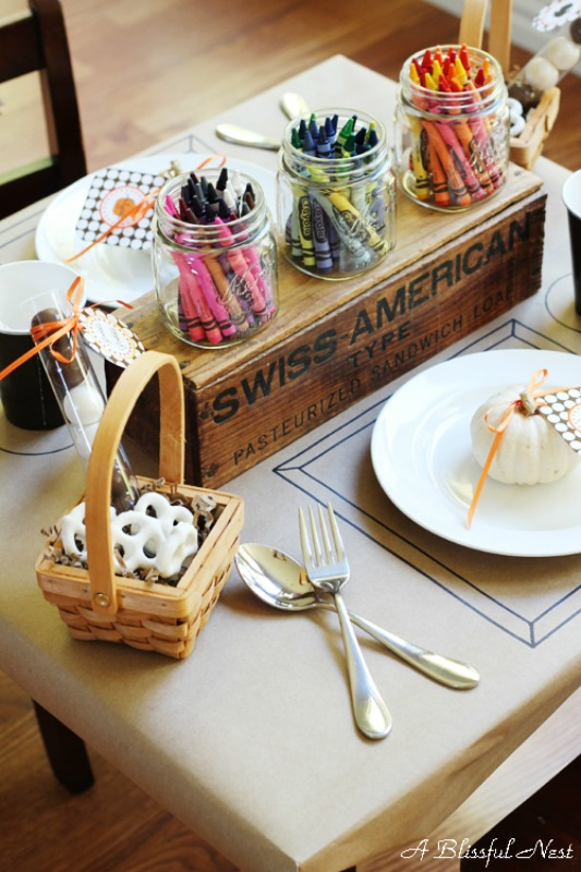 Thanksgiving for the Kids, Kids Thanksgiving Table Ideas via Giggles Galore