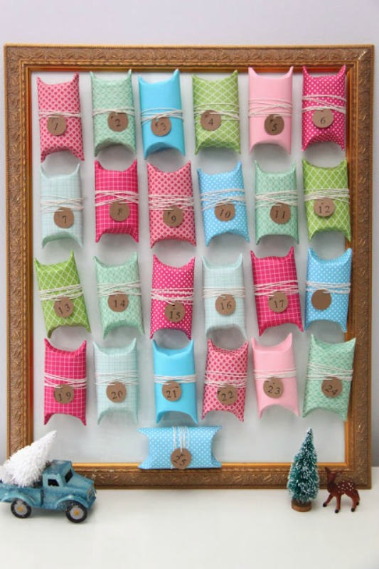 Toilet Paper Tube Advent Calendar, DIY Christmas Countdown Advent Calendar Ideas