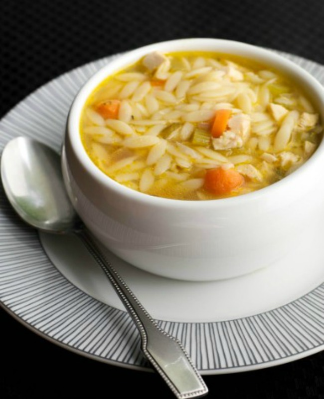 Turkey Orzo Soup, Thanksgiving Leftovers Recipes via Giggles Galore