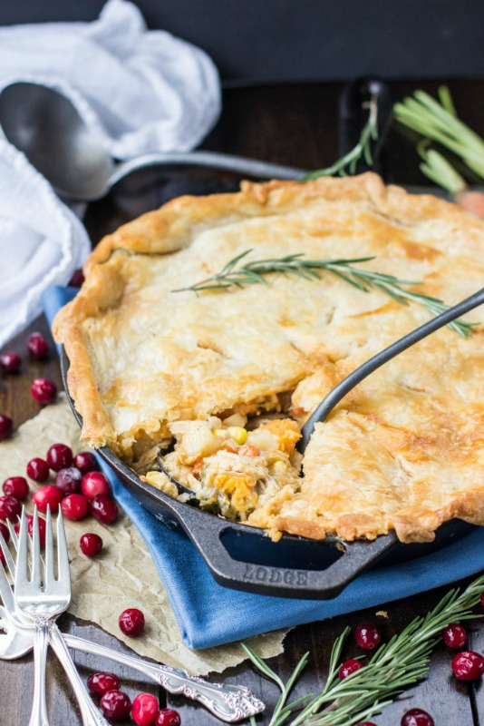 Turkey Pot Pie, Thanksgiving Leftovers Recipes via Giggles Galore