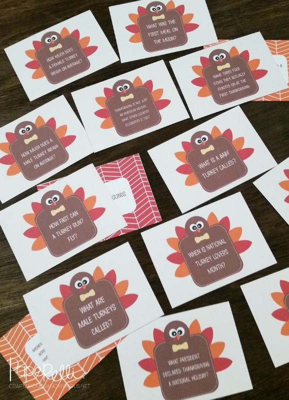 Turkey Trivia, Kids Thanksgiving Table Ideas via Giggles Galore