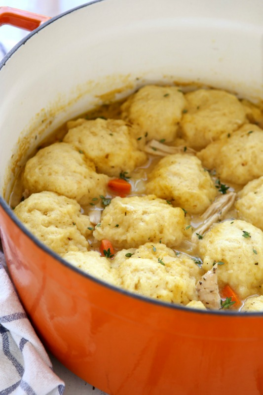 Turkey and Dumplings, Thanksgiving Leftovers Recipes via Giggles Galore