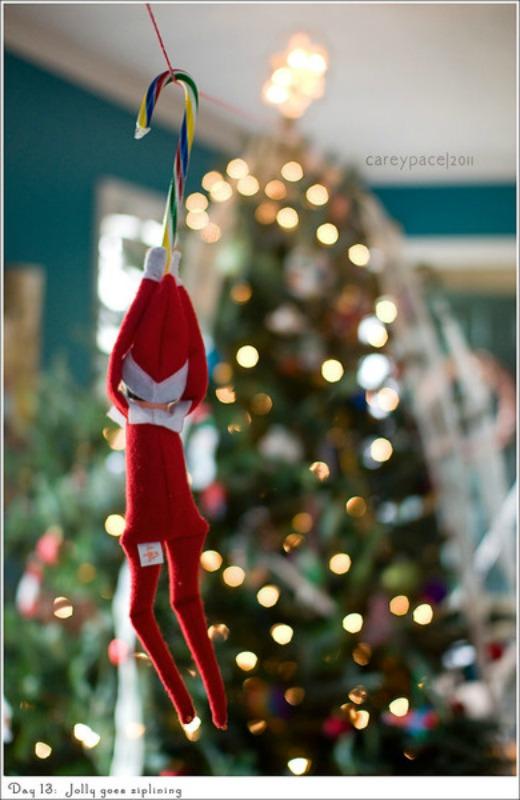 Ziplining, Elf on the Shelf Ideas via Giggles Galore
