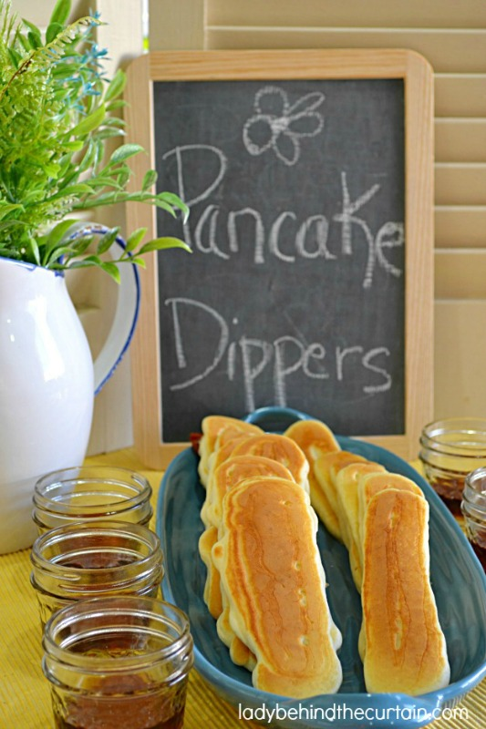 Bacon Pancake Dippers, Christmas Morning Breakfasts via Giggles Galore