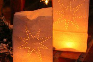 DIY Paper Bag Luminaries