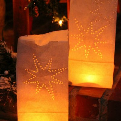 DIY Paper Bag Luminaries