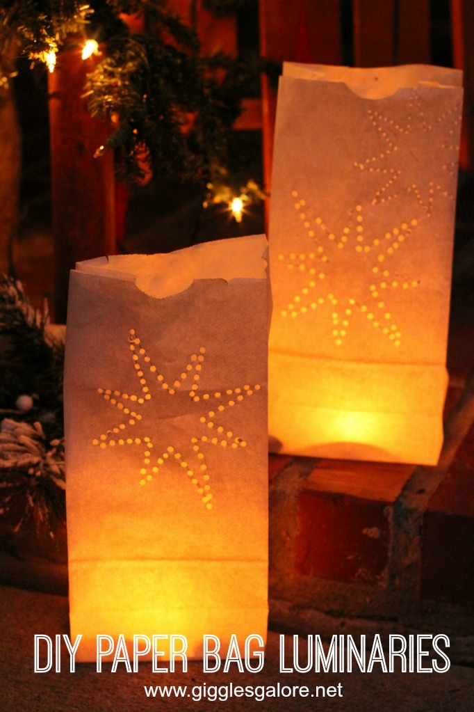 Diy Paper Bag Luminary Glow