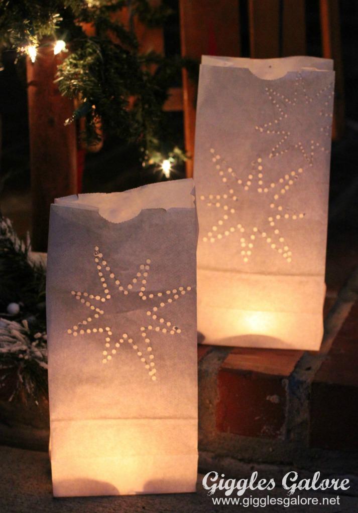 DIY Paper Bag Luminaries - How To Make DIY White Paper Bag Luminaries