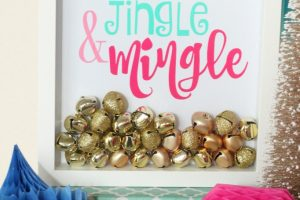 Jingle and mingle holiday sign giggles galore