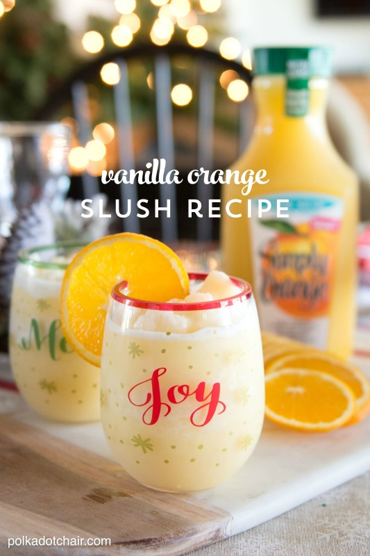 Vanilla Orange Slush, Christmas Morning Breakfasts via Giggles Galore