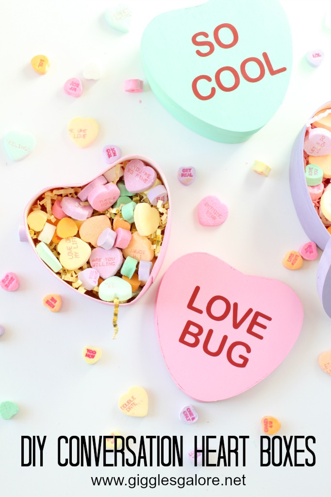 DIY Conversation Valentines Heart Boxes made with Cricut Maker by Mariah Leeson