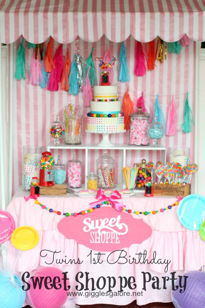 Sweet Shoppe Theme for a Girls 1st Birthday Party Idea by Mariah Leeson