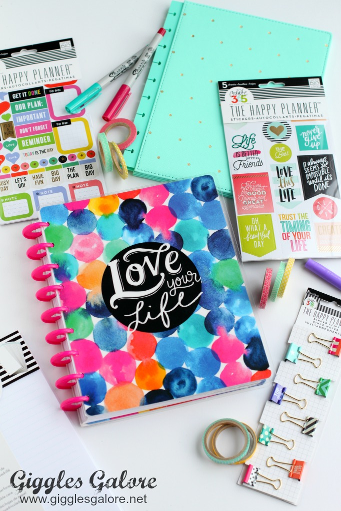 how to stay organized and motivated with the happy planner giggles