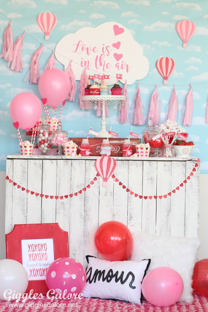 """Love is in the air"" Valentines Party Theme with Cricut by Mariah Leeson"