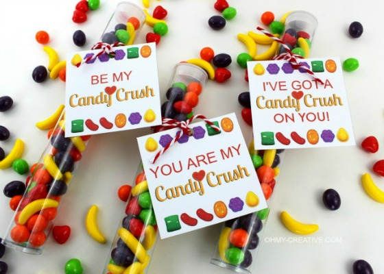 Candy Crush Valentines, 30+ Kids Valentine Printables via Giggles Galore