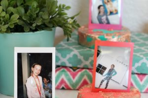 DIY Gold Leaf Photo Holder