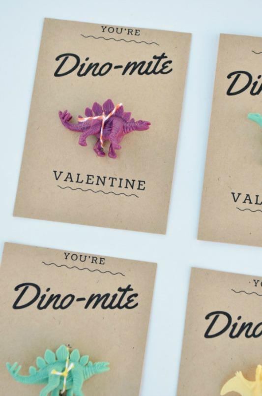 Dino-Mite Valentines, 30+ Kids Valentine Printables via Giggles Galore