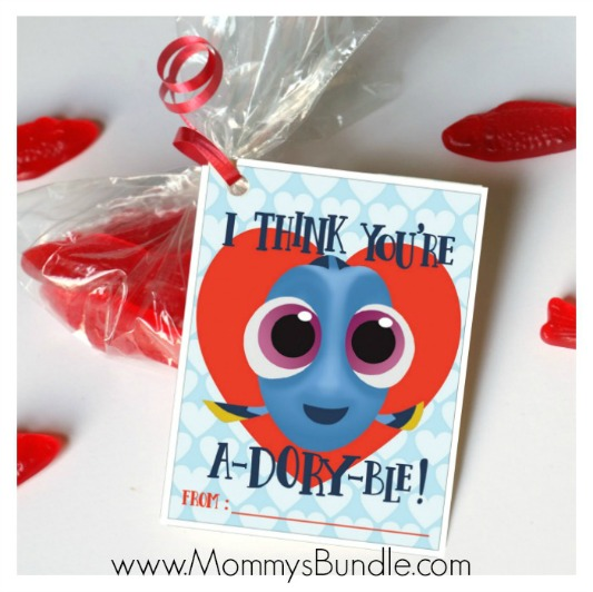 Finding Dory Valentines, 30+ Kids Valentine Printables via Giggles Galore