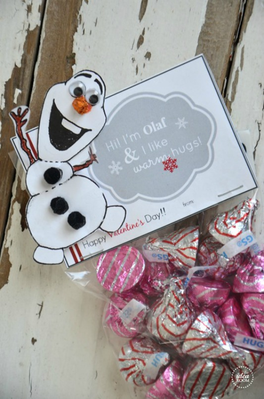 Frozen Olaf, 30+ Kids Valentine Printables via Giggles Galore