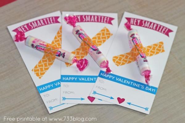Hey Smartie! Valentines, 30+ Kids Valentine Printables via Giggles Galore