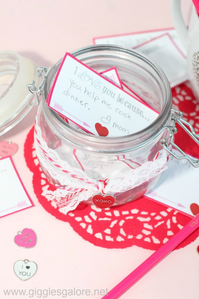 Valentine's Day I Love You Because Jar